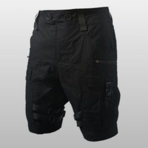 PUPIL TRAVEL Black Paratrooper Crago Shorts SZ S